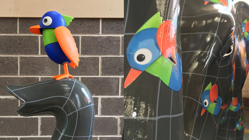 The Herd and Bird sculpture close ups