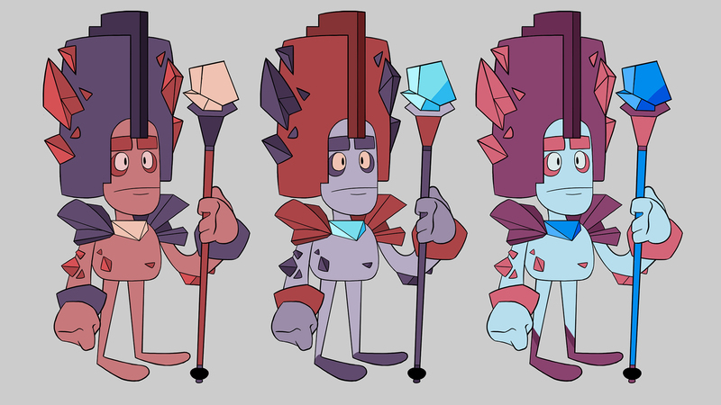 Colour roughs of The First