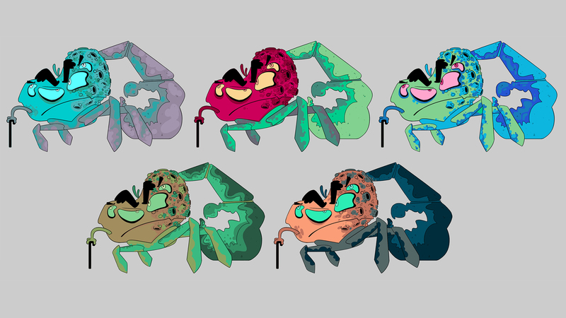 Colour roughs of the General