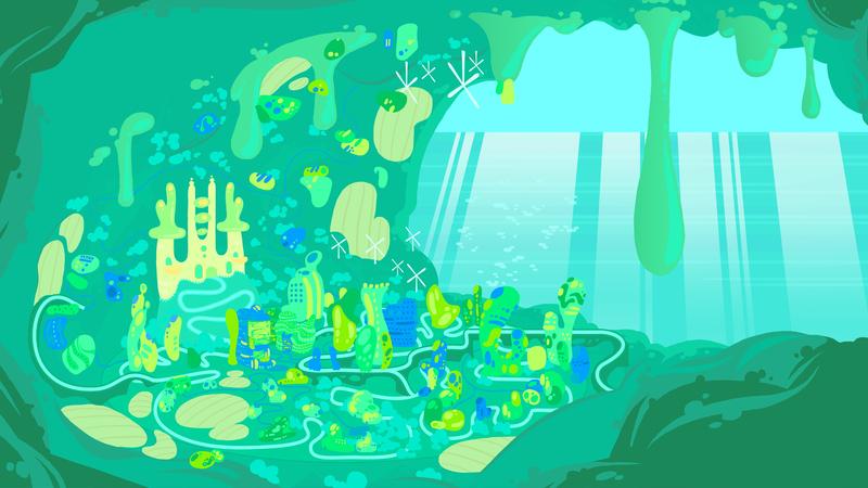 Colour artwork of Plasmodia