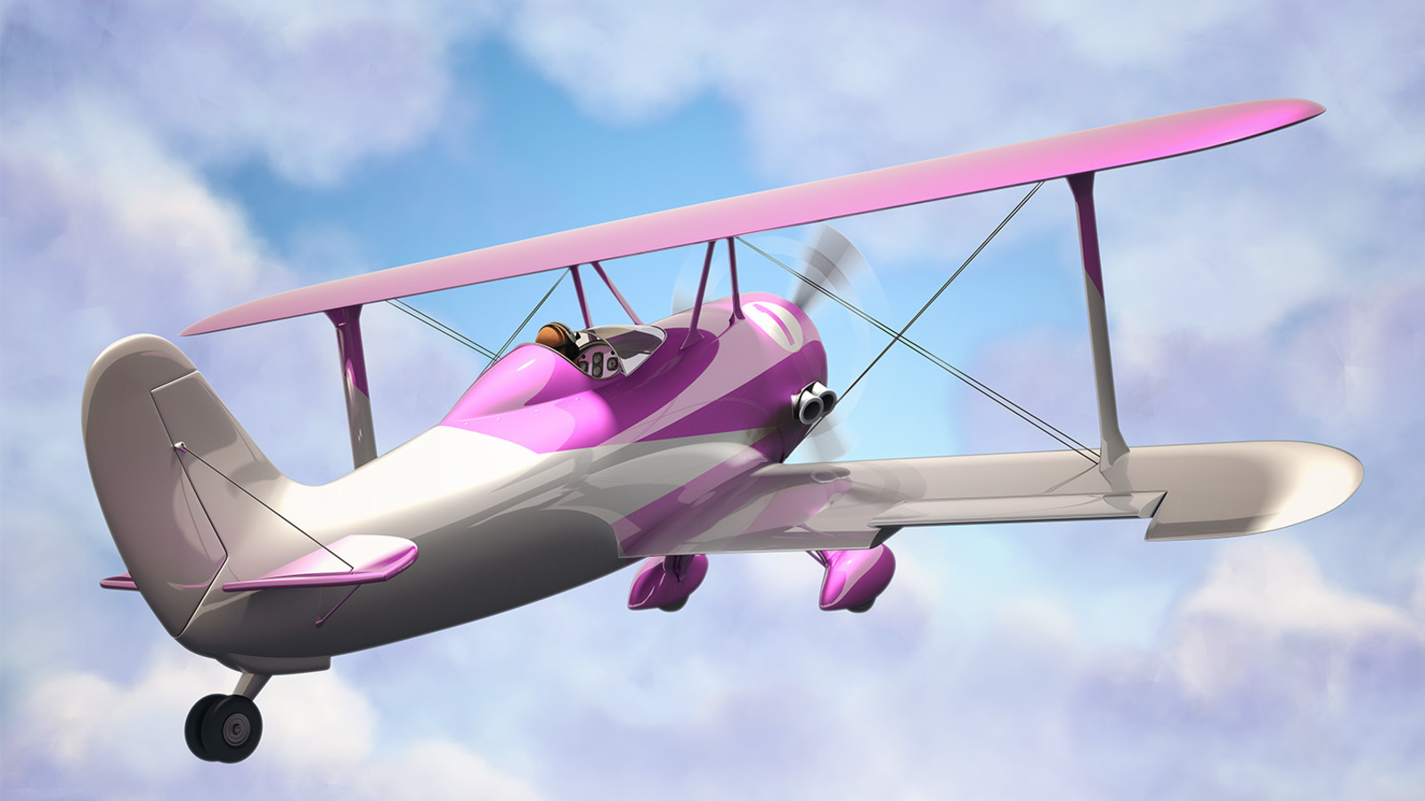 render of concentric aeroplane