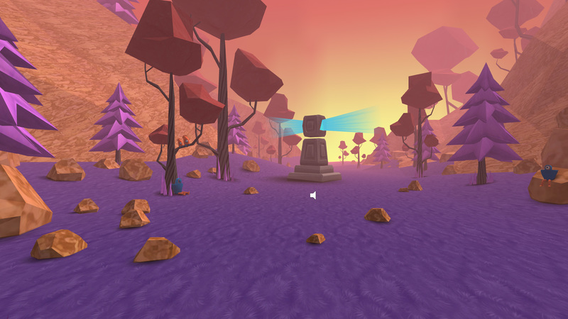 Preview image of The Valley VR experience, showing a mysterious landscape in a Valley that appears other worldly