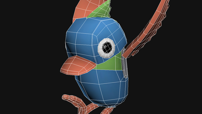 Screen grab of the bird from Herd & Bird in 3DS Max