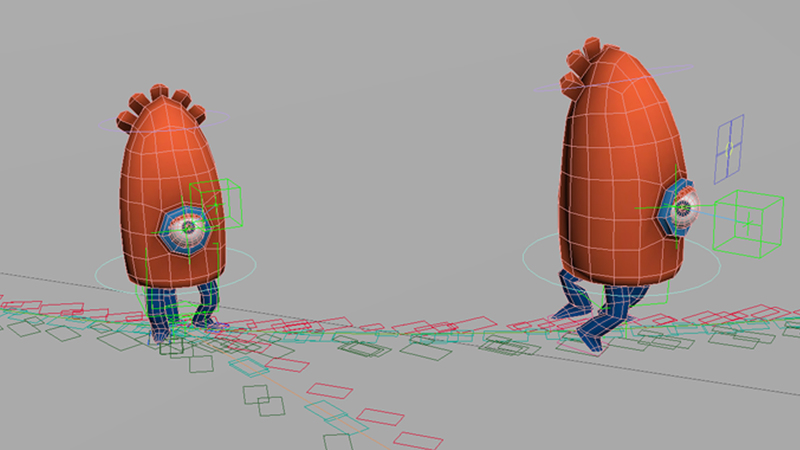Screen grab of characters in 3DS Max