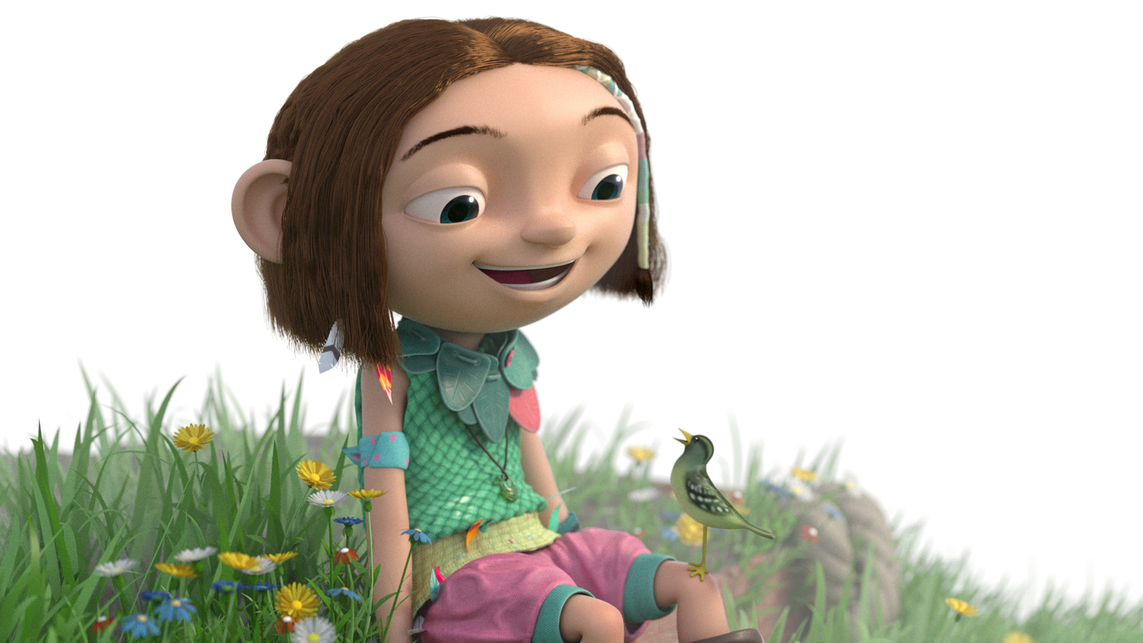 3D Render of Lila from Finger Industries IP Lila and the Giants