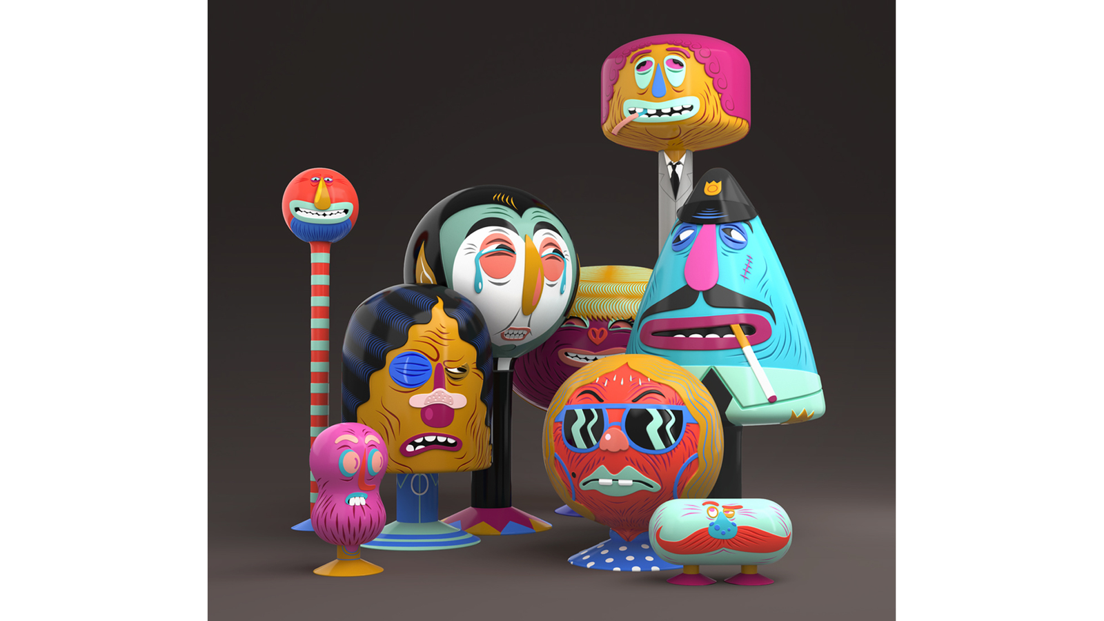 Group shot of The Block Family characters