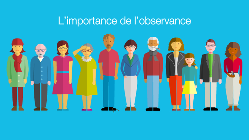Facebook banner for Mylan France showing patients in line